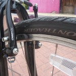 Bontrager tires and Tektro V-Brakes