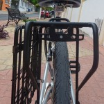Back rack and side collapsible basket